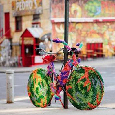 Urban Knitting...con bicicletta, per pedalare anche d'inverno!