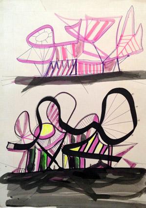 Architettura---Disegno-su-carta-riciclata-2000