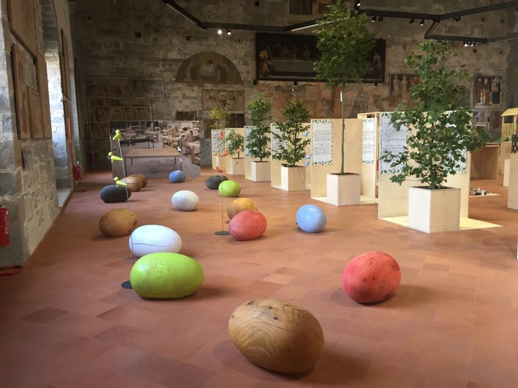 _Green Design Bergamo, sala Capriate, mostra La quotidianita del legno (foto Adi Corbetta)