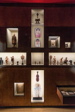 KHM, altre bacheche della mostra Spitzmaus Mummy in a Coffin and other Treasures