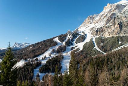 Cortina, le storiche ma rinnovate piste Druscie? A e Druscie? B (foto Martina De Biasi)