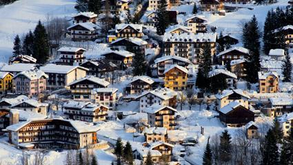 Uno spaccato urbano di Cortina d'Ampezzo