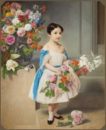 Francesco Hayez, Ritratto della contessina Antonietta Negroni Prati Morosini, 1858, Gam Milano