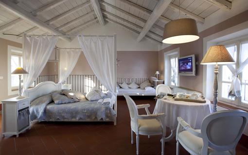 Una suite di Cascina Caremma