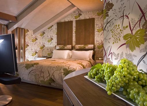 Una camera campagnard che ha come leit-motiv l'uva