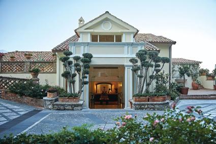 L'ingresso del Belmond Villa Sant'Andrea