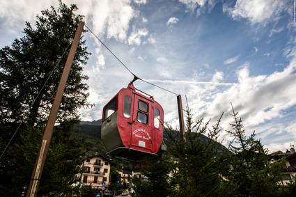 L'ingresso a Courmayeur-Mont Blanc