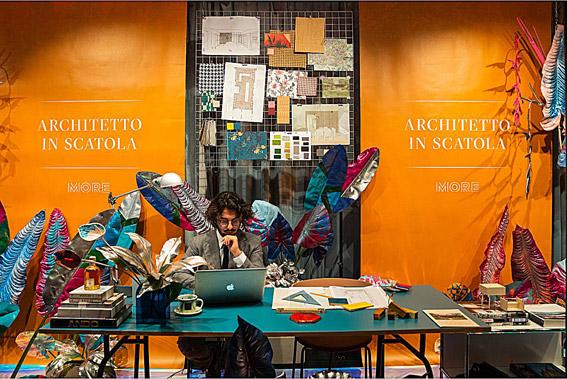 La presentazione dell'Architetto in Scatola in vetrina da Ila Malu?, Brescia