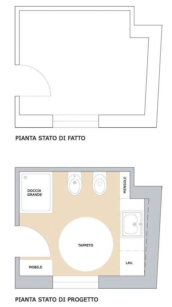 Bagno femminile e funzionale il progetto in una stanza - Progetto di un bagno ...
