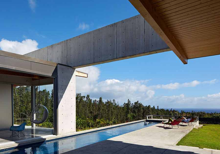 Il cemento nel paesaggio delle hawaii   il progetto in una stanza ...