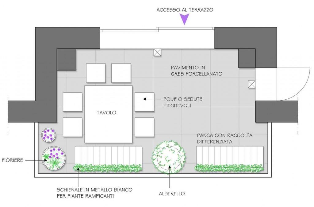 Due funzioni per un terrazzo - Il progetto in una stanza - Blog ...
