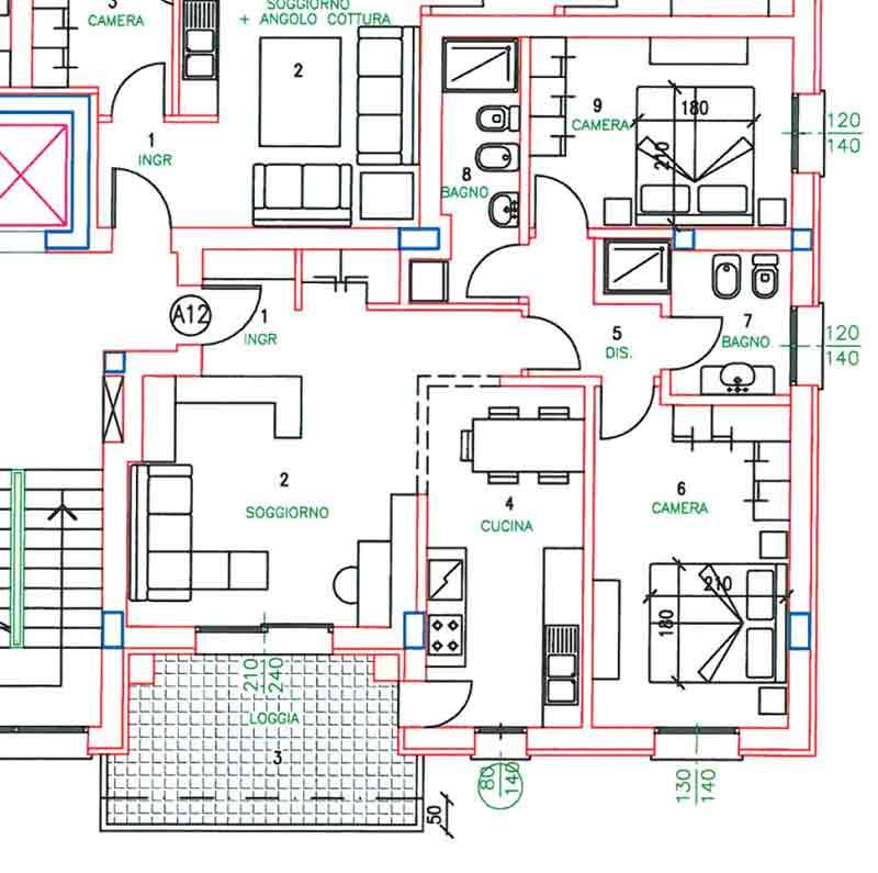 Due funzioni per un terrazzo il progetto in una stanza - Disposizione stanze casa ...
