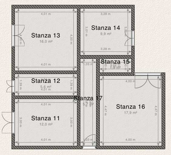 Design bianco e rosso il progetto in una stanza blog for Planimetria stanza