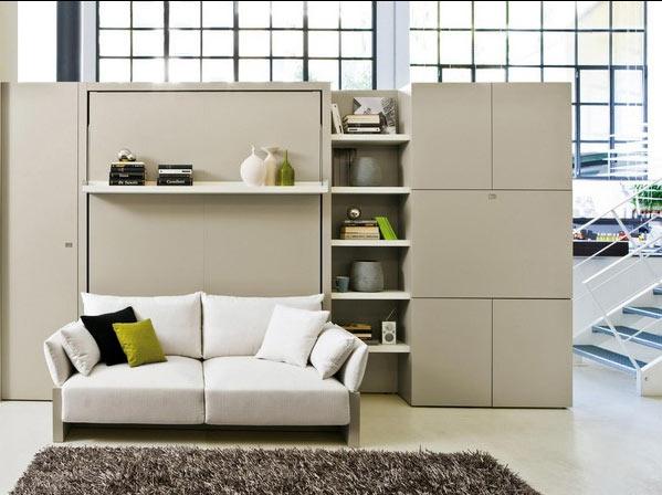 Costruire Un Letto A Scomparsa : Il letto c è ma non si vede il progetto in una stanza
