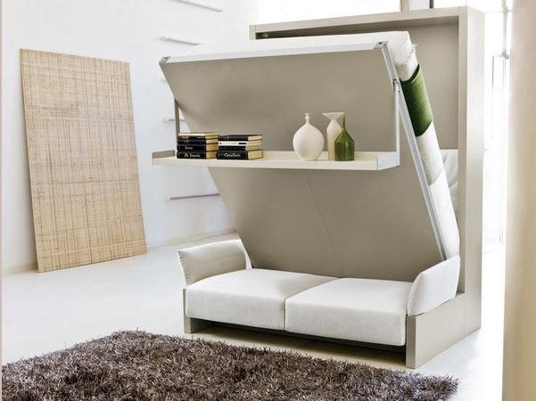 Il letto c 39 ma non si vede il progetto in una stanza - Un letto in una nicchia ...