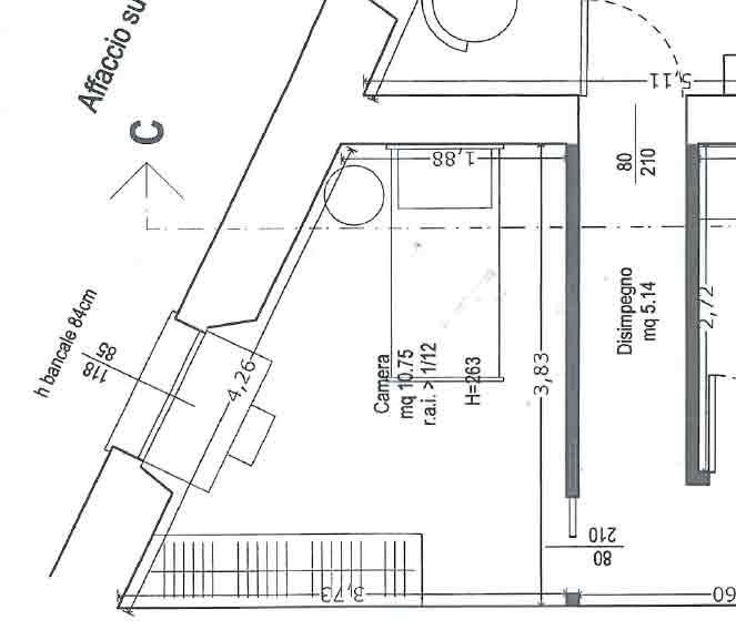 Il letto c 39 ma non si vede il progetto in una stanza for Camera ospiti e studio