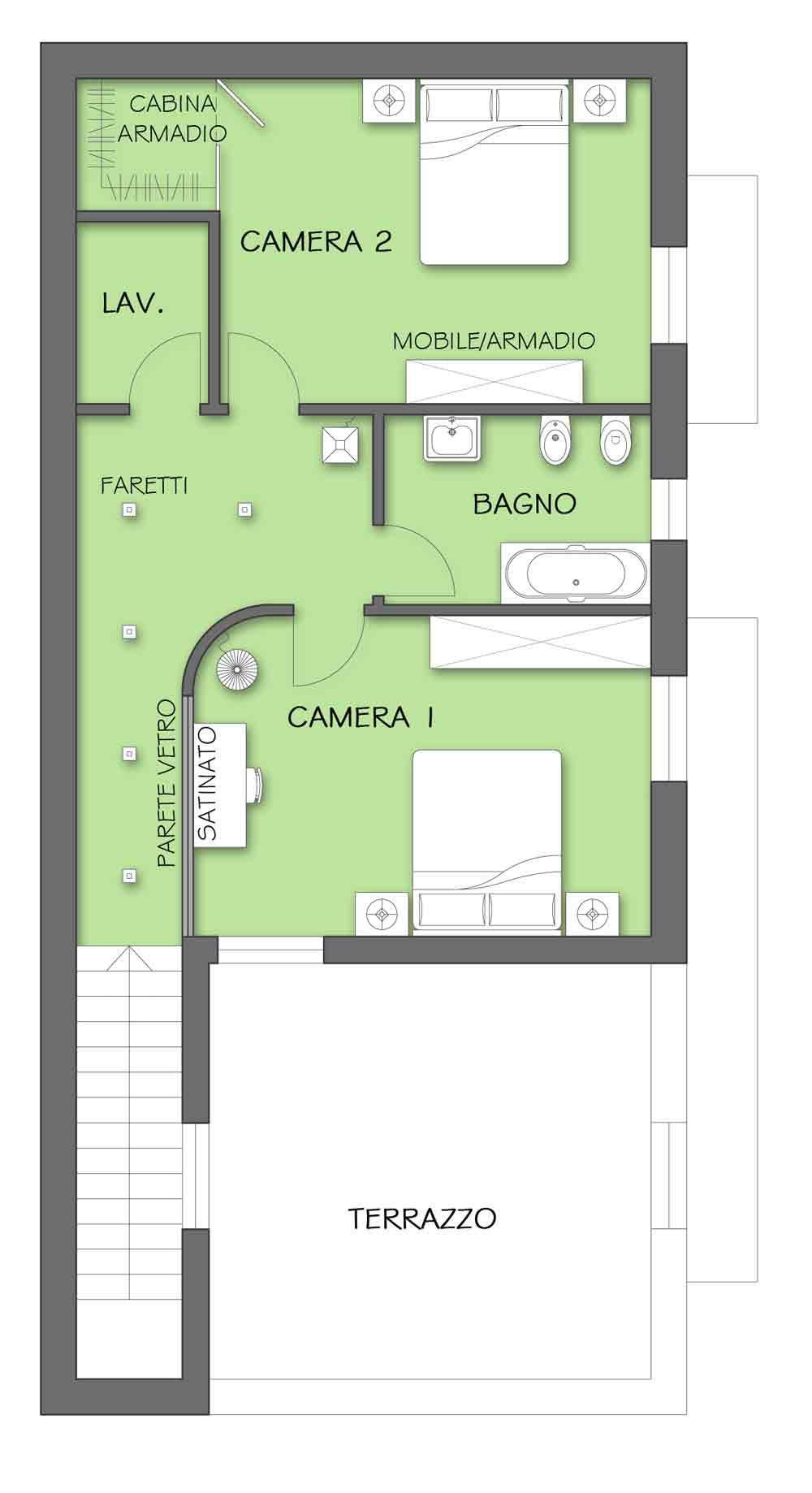 Nuova vita alla zona notte il progetto in una stanza for Generatore di layout della stanza