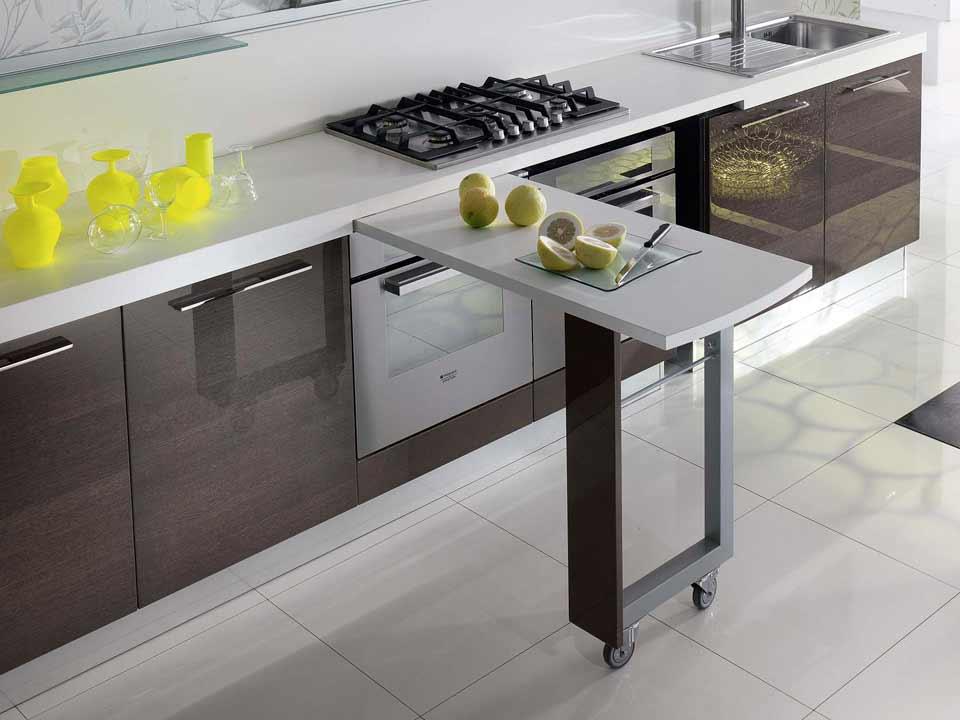 Tavolo sottopiano per la mini cucina il progetto in una - Cucina tavolo estraibile ...