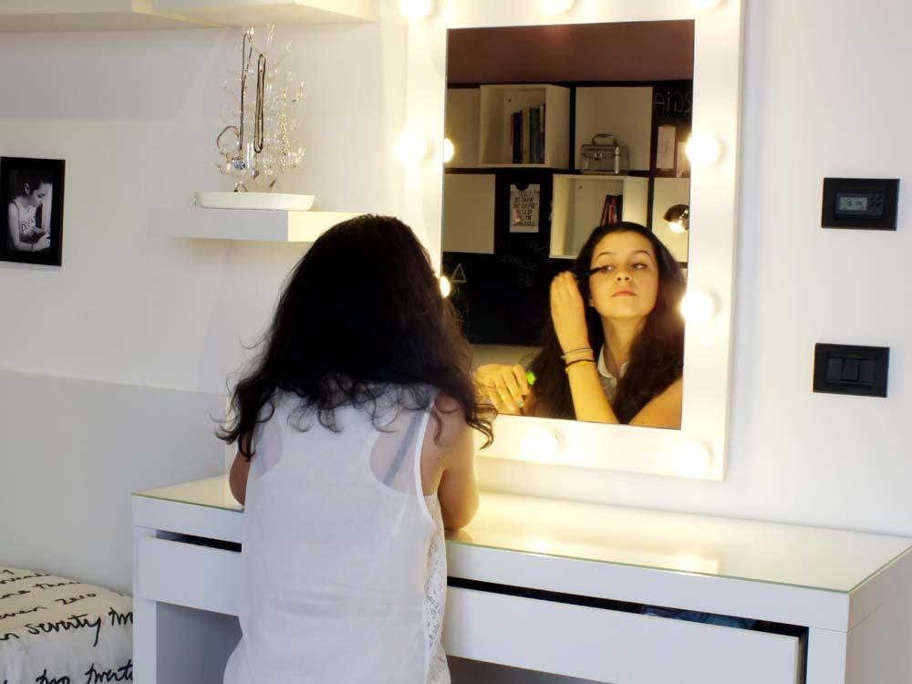 La cameretta diventa grande il progetto in una stanza blog casa design - Specchio make up ...