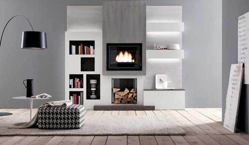 La parete attrezzata per il soggiorno il progetto in una for Stanza sopra le idee di design del garage