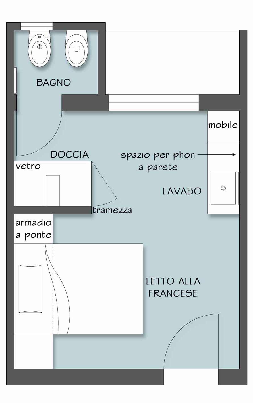 A casa come in albergo il progetto in una stanza blog for Come progettare un appartamento con una camera da letto