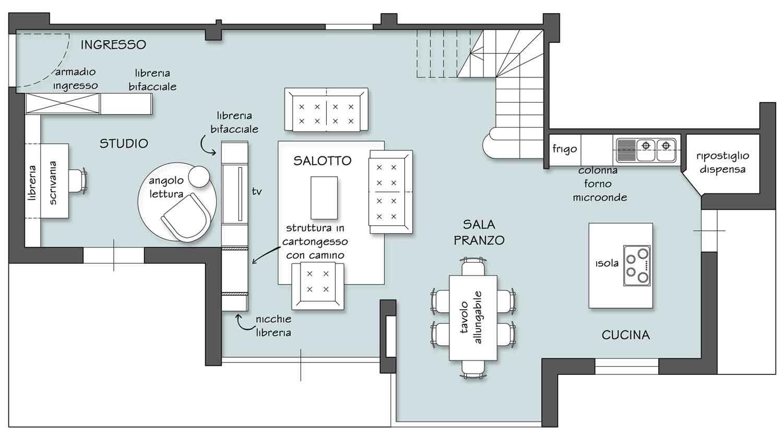 Separare ma non troppo il progetto in una stanza blog for Disegnare piantina stanza