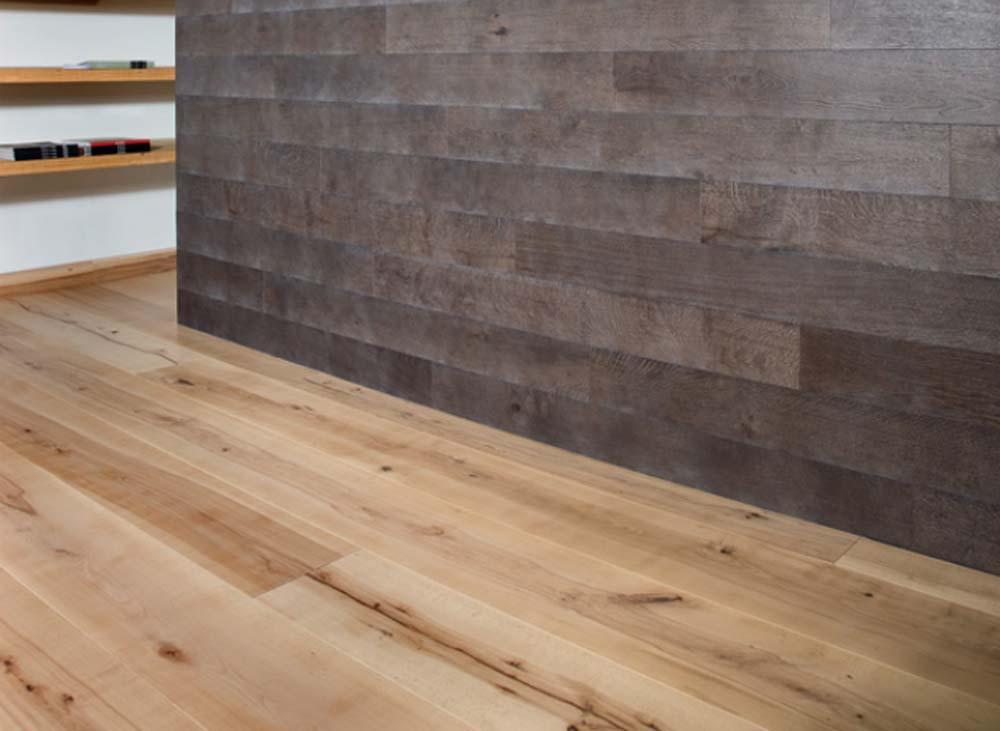 Rivestire a basso spessore il progetto in una stanza for Spessore parquet