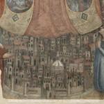 particolare della veduta di Firenze dopo la pulitura (foto A.Quattrone)