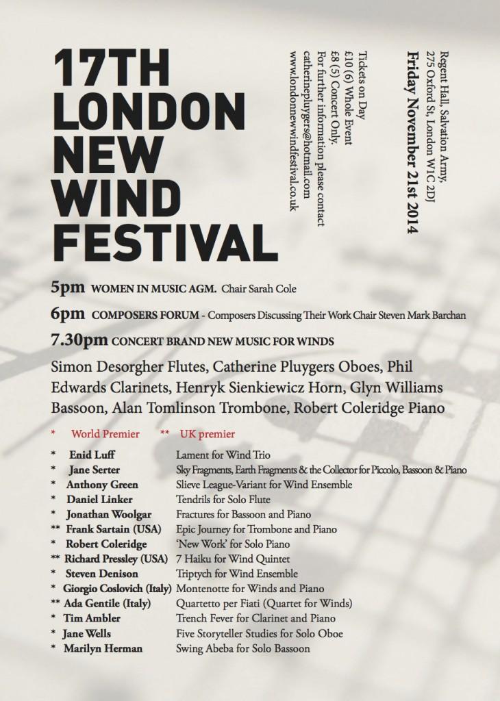 17th London Wind Nov 2014