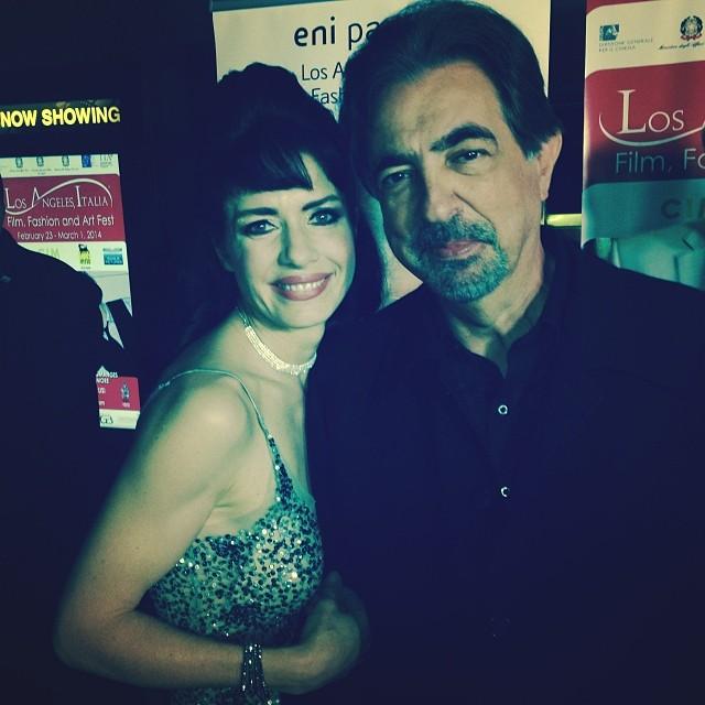 Con l'attore Joe Mantegna