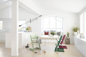 Tripp Trapp highchair in setting location