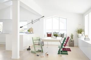 Tripp Trapp highchair in setting location