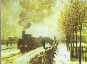 C. Monet -Treno nella neve-