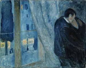 Munch Edvard-Bacio alla finestra