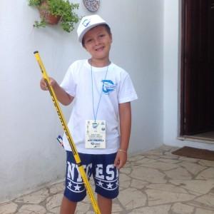 Emanuele si prepara per la gara Ragazzi a Pesca