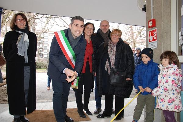 L'inaugurazione dell'asilo nel gennaio di quest'anno
