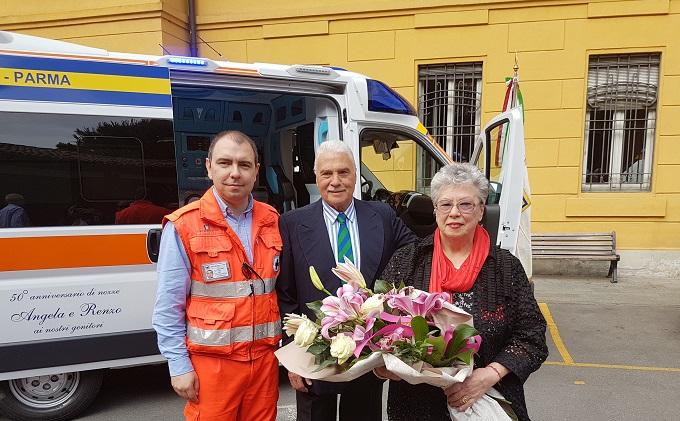 AP Parma_il presidente Luca Bellingeri con i coniugi Renzo e Angela Landini_20.05.2017