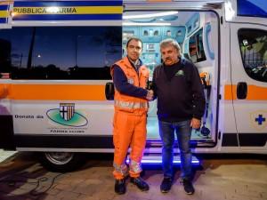 AP_donazione ambulanza Centro Coordinamento Parma Clubs_Bellingeri e Manfredini