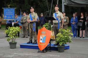 a sinistra il Ten.Col. Aldo d'Ambrosio subentrante e a destra il Ten.Col. Norbert Ziorzitto uscente