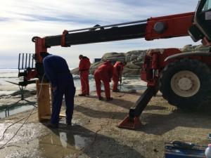 Giorno 59 - lavori per colata sul molo