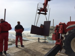 Giorno 60 - lavori sul molo
