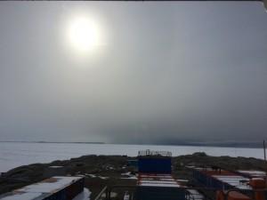 Giorno 66 - l'effetto whiteout si sta dissolvendo man mano che compare il sole