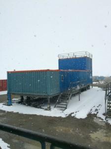 Giorno 67 - la base sotto la nevicata