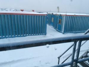 Giorno 93 - neve sulla base