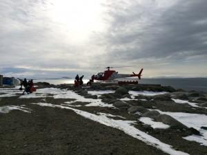 Giorno 98 - Si parte in elicottero