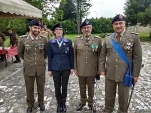 Lilly Sartori con il comandante Quarta (1)