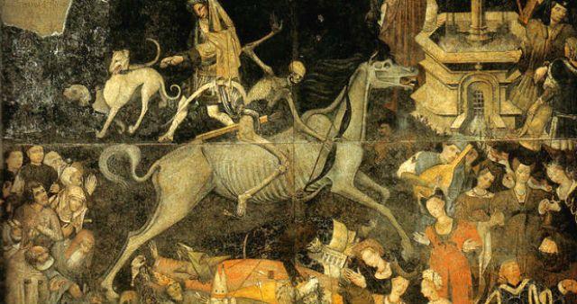 Trionfo della morte, Palazzo Sclafani, Galleria regionale di Palazzo Abatellis, Palermo (1446), affresco staccato