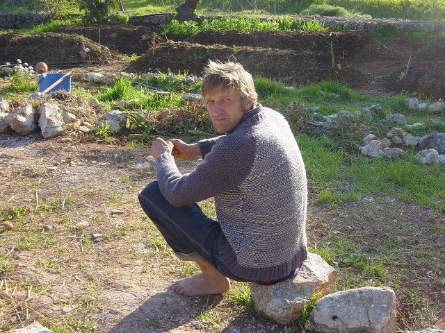 Mark Meer, permacultore di origine tedesca trapiantato in Valle d'Itria
