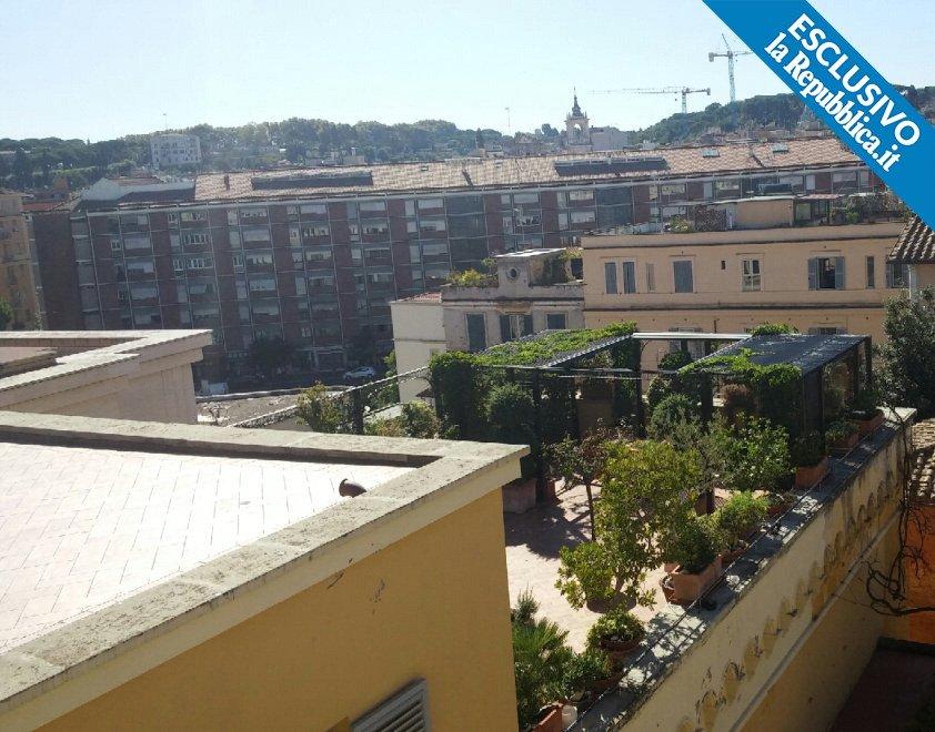 The rooftop garden of Palazzo San Carlo.