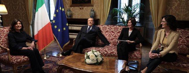 Casellati meets the Forza Italia delegation.